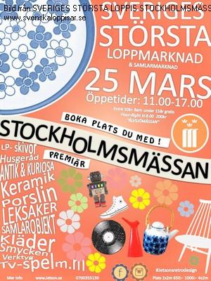Karta Stockholmsmassan.Sveriges Storsta Loppis Stockholmsmassan 25 Mars Loppis I Stockholm